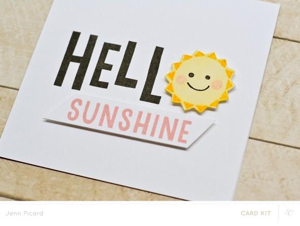 Hello sunshine close up