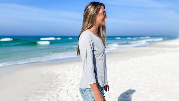 152443 simple beach happyv neck bell sleeve women ash slider3 original