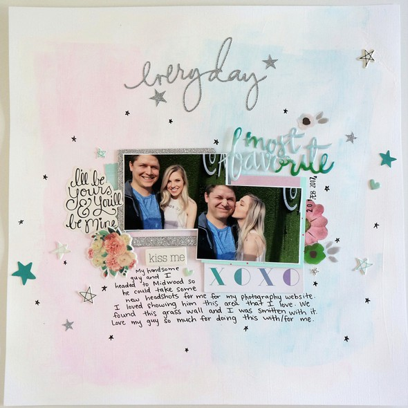 Everyday with you layout  watercolor paint background and hand drawn stars %25281%2529 original