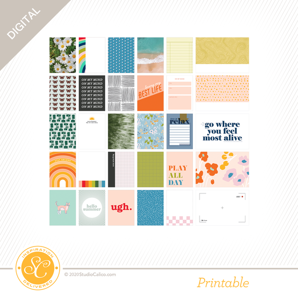 84509 sc digital full bloom journal cards b side preview original