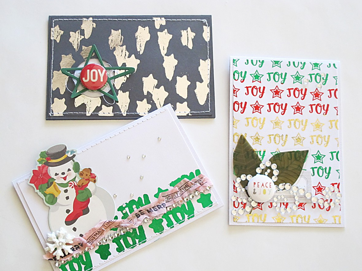 Stamped pattern cards original