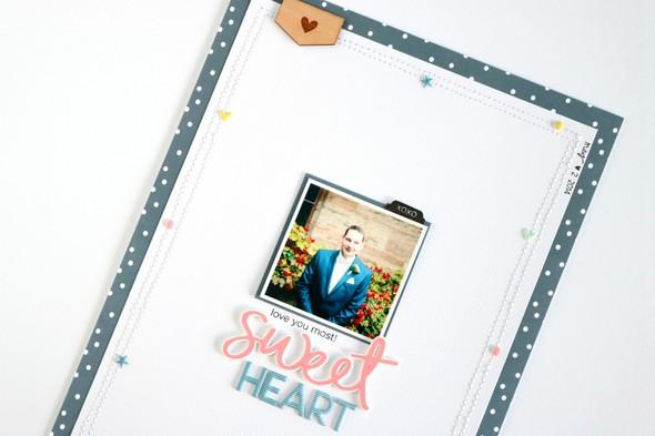 Sweetheart scrapbooking layout 5 original
