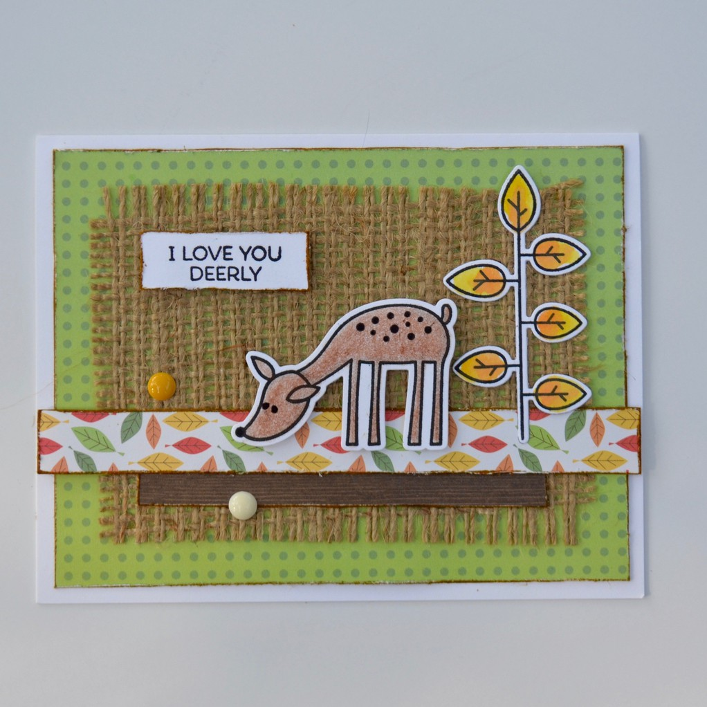 Love you deerly burlap original