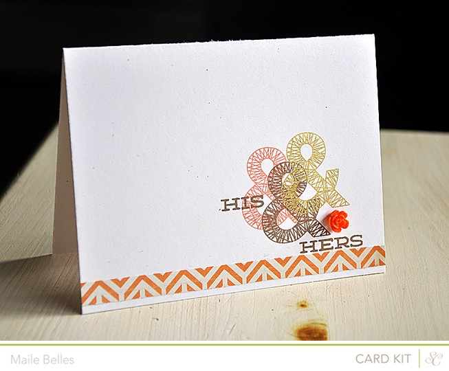 His   hers card