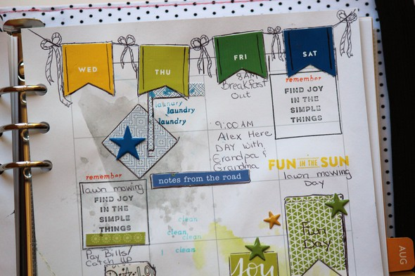Planner stickers using punches original