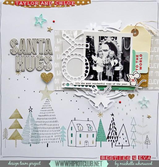 Santa hugs original