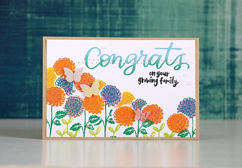 Flower congrats by natalie elphinstone original