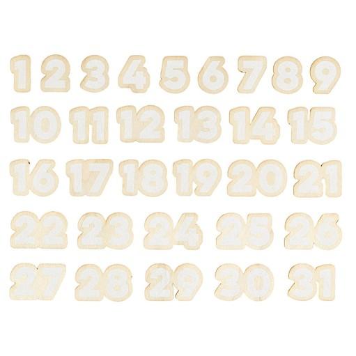 Picture of December Daily® 2021 Painted Wood Veneer Numbers