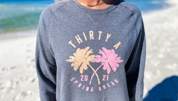 137636 spring break on 30a colorful crew sweatshirt women gray slider4 original