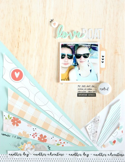 Love boat scrapbooking layout 1 original