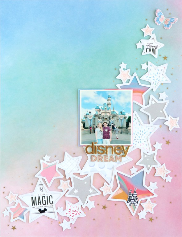Disney dream scrapbooking layout 2 original
