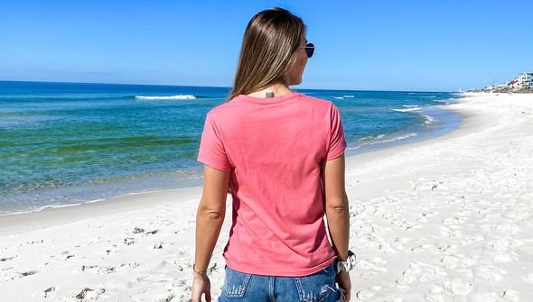 137610 beach trip essentials v neck tee women melon slider5 original