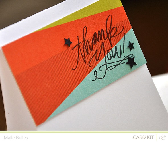 Thank you card detail