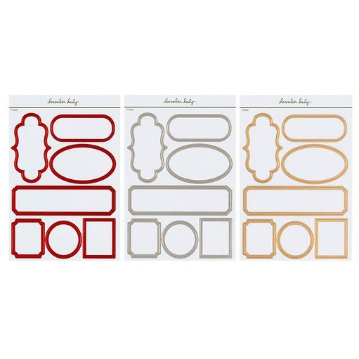 Picture of December Daily® 2021 Metallic Label Sticker Sheet Bundle