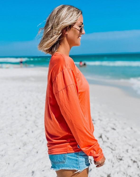 152533 beach happy long sleeve sun shirt coral women slider 2 original