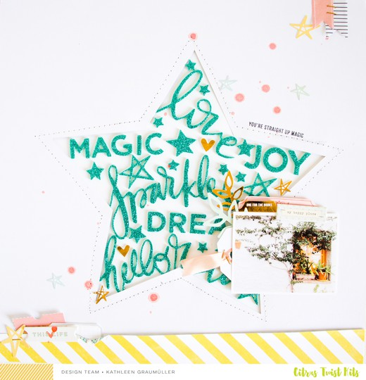 Magic scatteredconfetti scrapbooking layout citrustwistkits november 0 original