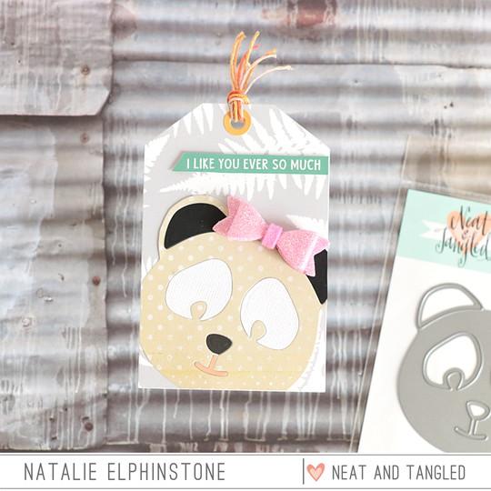 Panda tag by natalie elphinstone original