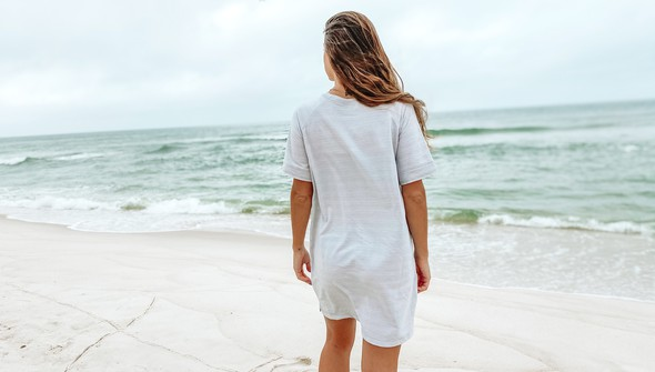 121977 simple beach happy french terry dress women oatmeal slider5 original