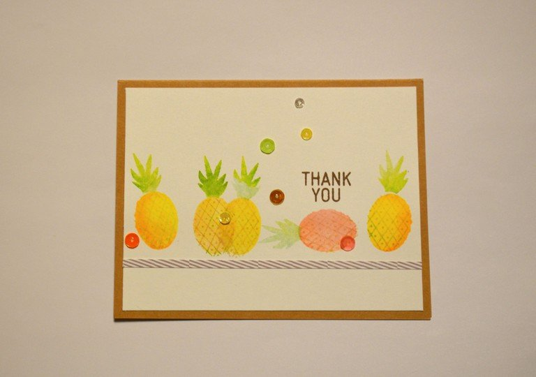 Pineapple thank you card original