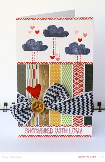 Showered with love card