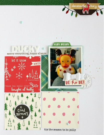 Ducky scrapbooking layout 5 original