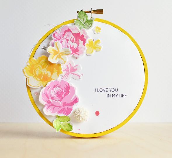 Vintage flowers hoop j. olson l1a