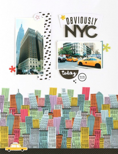 Oviously nyc scrapbooking layout 2 original