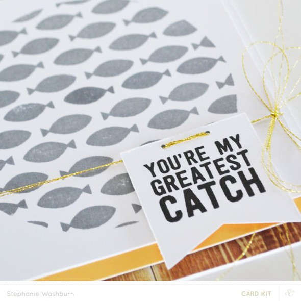 Card kit catch fish close