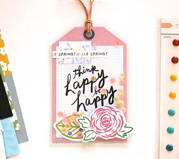 Think happy tag by natalie elphinstone original