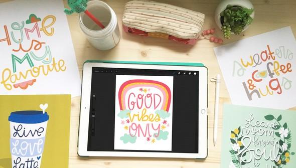 Ipad lettering 1 original