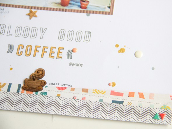 Coffeee scrapbooking layout scatteredconfetti gossamerblue papierprojekt 2 original