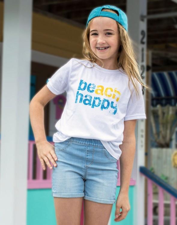 114356 beach happy short sleeve tee white kids slider 1 original