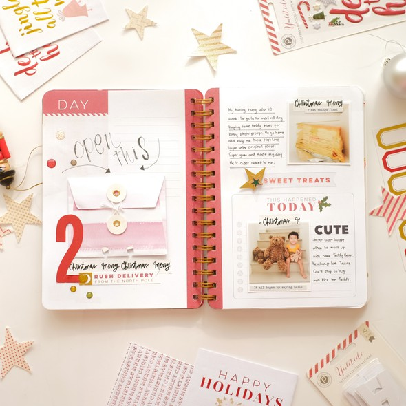 December daily by evelynpy day 2 full spread original