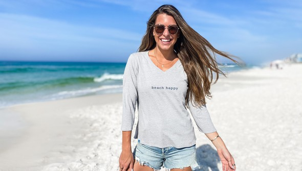152443 simple beach happyv neck bell sleeve women ash slider1 original