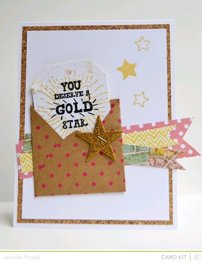 Gold star card kit add on