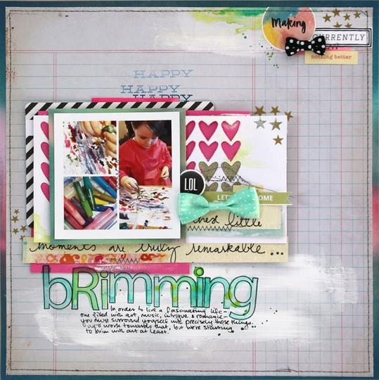 Brimming