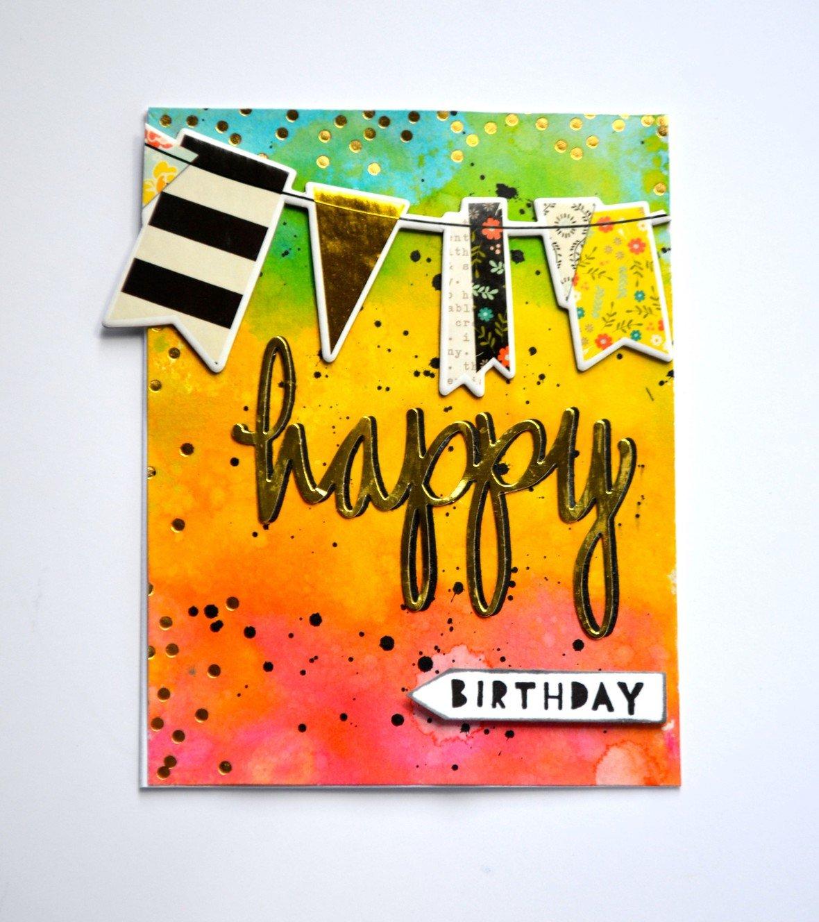 Happy birthday artistic card original