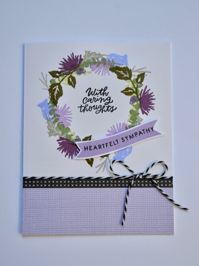Heartfelt sympathy wreath card original