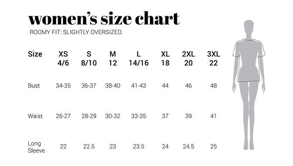 30a sizechart women slightlyoversized original