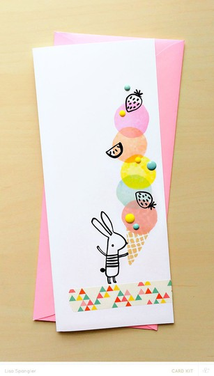 Card main bunny original