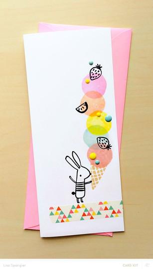 Card main bunny original