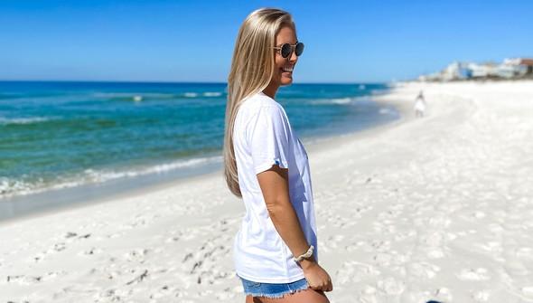 137812 spring break on 30a short sleeve tee women white slider4 original