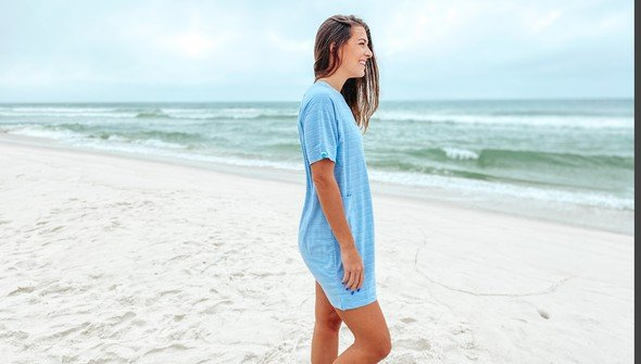 121788 simple beach happy french terry dress women dusty blue slider5 original
