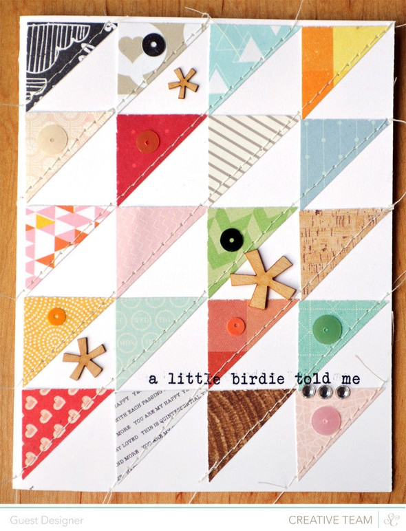 A little birdie told me card by paige evans