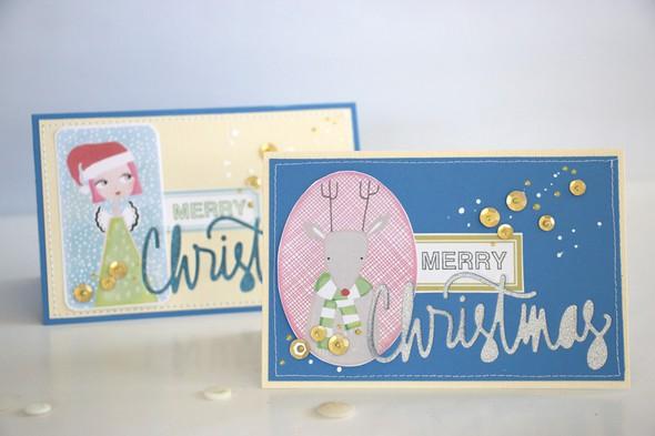 Merry card reindeer
