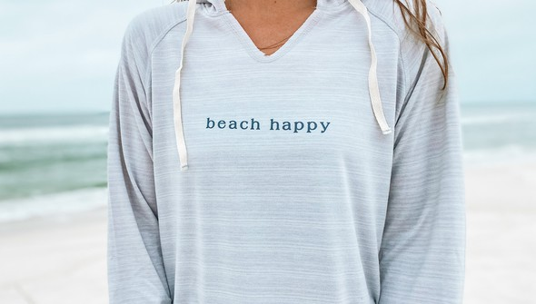 121777 simple beach happy french terry hoodie women oatmeal slider2 original