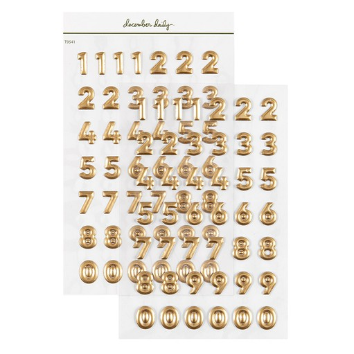 Picture of December Daily® 2021 Number Puffy Stickers