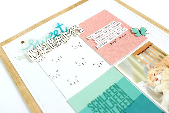 Sweet dreams scrapbooking layout 2 original