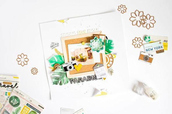 Paradise scatteredconfetti scrapbooking layout spellbinders 2 original
