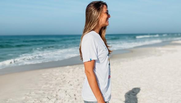 146635 beach happy under the sea short sleeve tee women white slider4 original